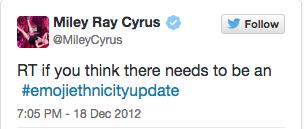 Miley Cyrus tweet