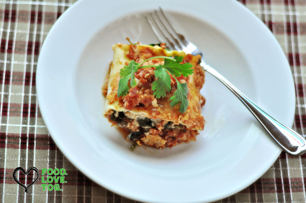"<p>Mushroom and spinach lasagna rolls</p> <p>""><figcaption class="
