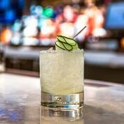 """<p></noscript>A cucumber gimlet, made with muddled cucumber and lime, makes for a refreshing adult beverage.</p> <p>""""><figcaption class="""