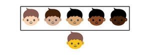 Emojis from Unicode Consortium diversity report